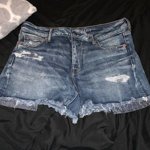 American Eagle High Waisted Denim Shorts